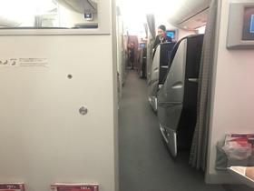 往路JAL 座席から